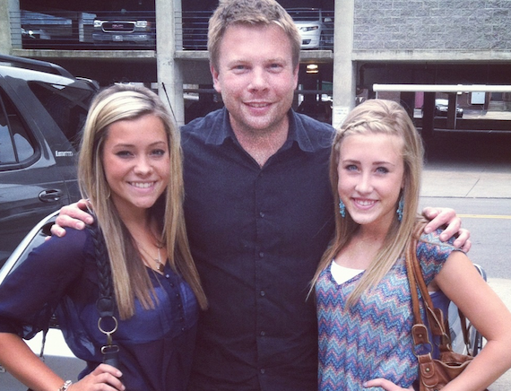 Aaron Scherz with Dot Records duo Maddie & Tae