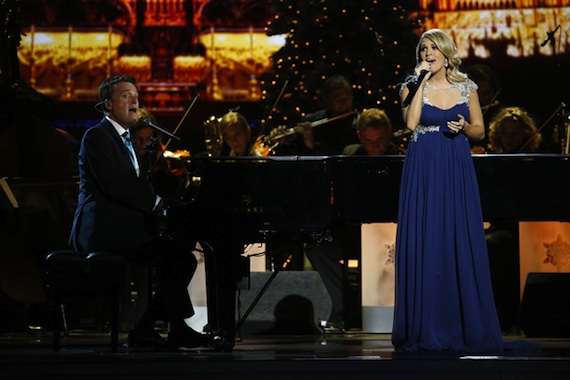 """Carrie Underwood and Michael W. Smith perform """"All Is Well."""""""