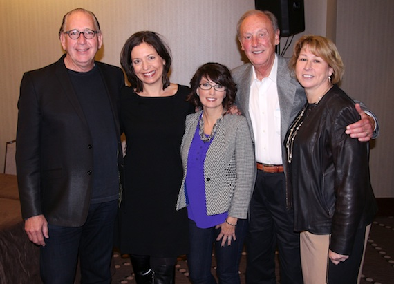 Pictured (L-R): John Esposito, incoming CMA Board President and President and CEO of Warner Music Nashville; Sally Williams, incoming CMA Board President-Elect and Vice President of Business and Partnership Development of Ryman Auditorium; Jessie Schmidt, CMA Board Secretary/Treasurer and President of Schmidt Relations; Frank Bumstead, incoming CMA Board Chairman and Chairman of Flood, Bumstead, McCready & McCarthy, Inc; Sarah Trahern, CMA Chief Executive Officer. Photo: Christian Bottorff / CMA