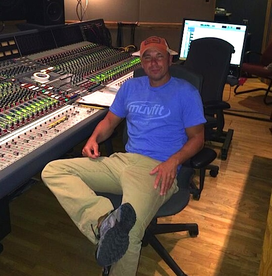 Kenny Chesney in the Sound Emporium studio, working on his The Big Revival album.