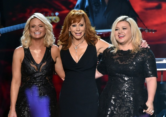 Pictured (L-R): Miranda Lambert, Reba, and Kelly Clarkson.
