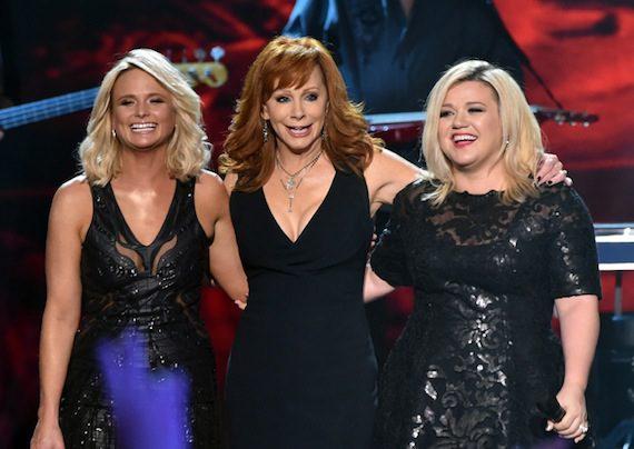 Pictured (L-R): Miranda Lambert, Reba, and Kelly Clarkson.