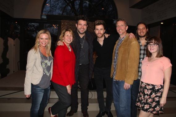 Pictured (L-R): Brandi Simms (Senior Director of Membership and Balloting), Sarah Trahern (Chief Executive Officer), Zach Swon, Colton Swon (The Swon Brothers) and Greg Hill (CEO of Hill Entertainment Group), Brenden Oliver, Membership and Balloting Coordinator and Carrie Tekautz, Membership and Balloting Assistant.