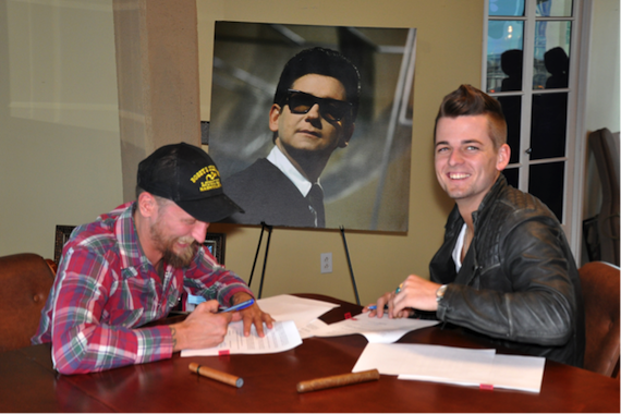 Pictured: Alex Orbison (President, Still Working Music) and Chase Bryant.