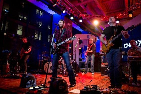 Chris Young performing as a part of the MLB Fan Cave Concert Series presented by Budweiser from the MLB Fan Cave on in New York City, New York. Photo: Taylor Baucom/MLB Photos via Getty Images.