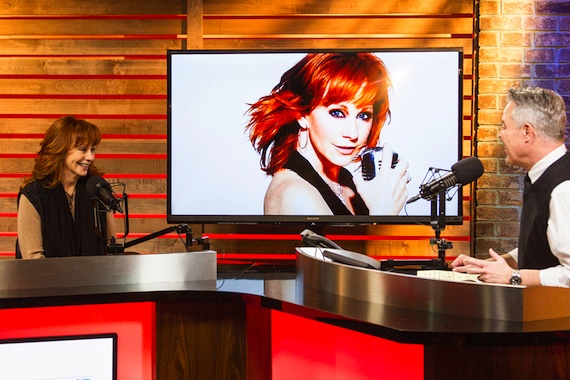 Reba chats n-studio with Blair Garner of America's Morning Show at the NASH Campus in Nashville.