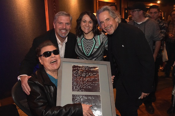 Ronnie Milsap with Black River Entertainment's Gordon Kerr, Dawn Delvo, and Burt Stein. Photo: Getty Images