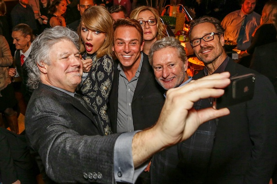 Pictured l to r:  Daniel Hill, Trustee, Nashville Chapter; GRAMMY Nominee Taylor Swift; Nashville Chapter Trustees Fletcher Foster, Chandra LaPlume, Terry Hemmings and Nashville Chapter President Jeff Balding.