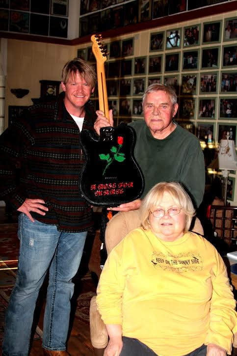Bobby Cyrus with Tom T. and Dixie Hall. Photo: Bev Moser