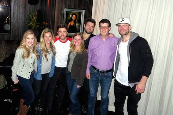 Pictured (L-R): Maddie & Tae, Colton Swon, WUSN MD Marci Braun, Zach Swon, WUSN PD Jeff Kapugi, Sam Hunt