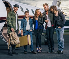 Pictured (L-R): Sam Hunt, Hunter Hayes, and Lady Antebellum.