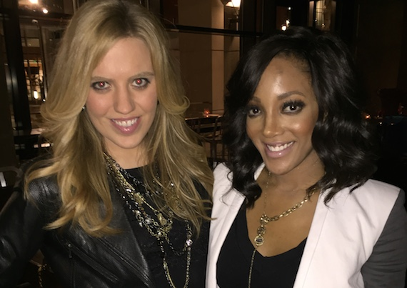 Pictured (L-R):  Circle S Records artist SaraBeth and Capitol Records artist Mickey Guyton.
