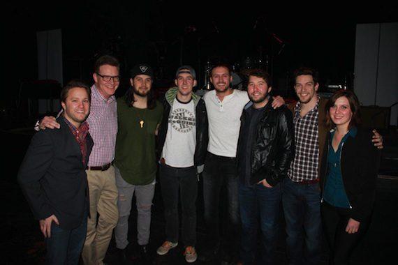 Pictured (L-R): YEP's Marc Rucker, BMI's Perry Howard, The Lookout's Tyler Filmore & John Gurney, Drew Baldridge, Ryan Beaver, YEP's Andrew Cohen and BMI's Brooke Ivey