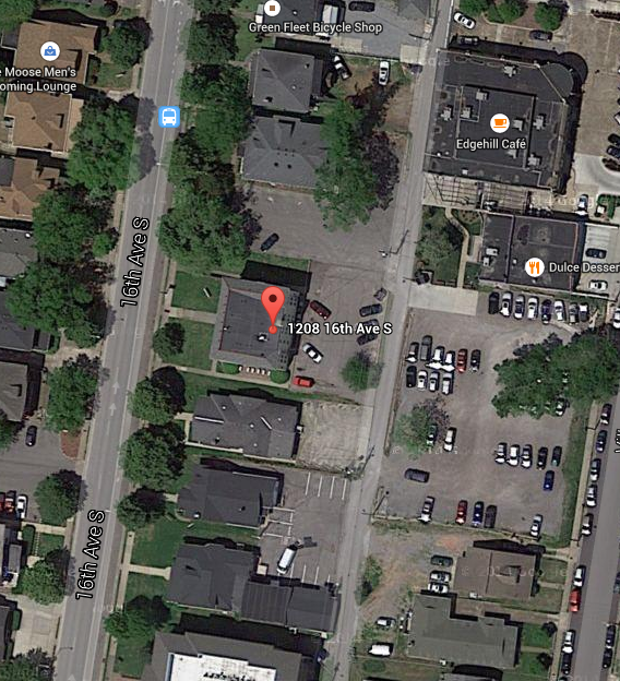 1208 16th Ave S, Nashville, TN. Map data @2015 Google, Nashville Davidson County.