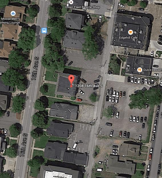 1208 16th Ave S, Nashville, TN. Map data @2015 Google, Nashville Davidson County.