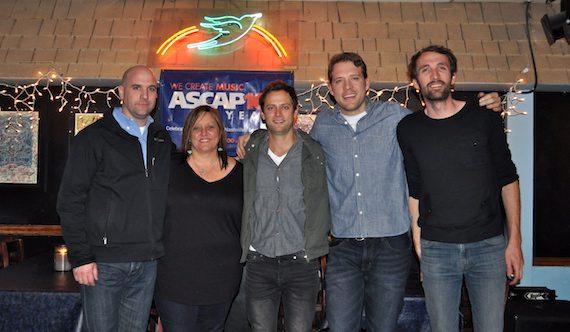 Pictured (L-R): ASCAP's Robert Filhart, Marla Cannon-Goodman, Aaron Eshuis, Matt Jenkins and Josh Jenkins. Photo: ASCAP's Alison Toczylowski.