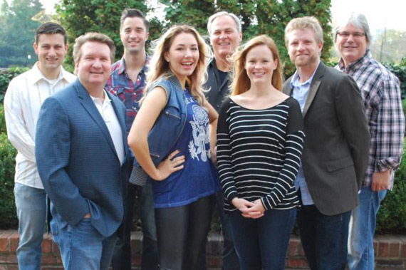 Pictured (L-R) Back: BMG's Daniel Lee (Senior Director, Creative) and Kevin Lane (Creative Director); Clay Myers (Big Stage Music); BMG's Chris Oglesby (VP, Creative); Front–Trey Turner (Big Stage Music); Alina Smith, BMG's Sara Knabe (Senior Director, Creative) and Kos Weaver (Executive Vice President).