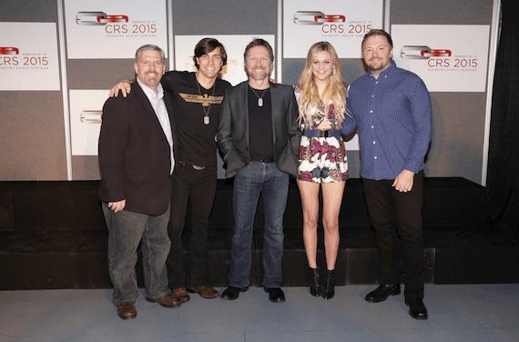 Pictured (L-R): Black River Entertainment's Gordon Kerr, John King, Craig Morgan, Kelsea Ballerini, and Josh Osborne.