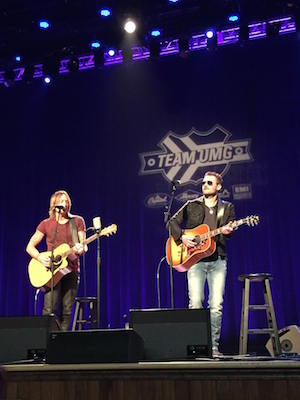 Keith Urban and Eric Church. Photo: CRS