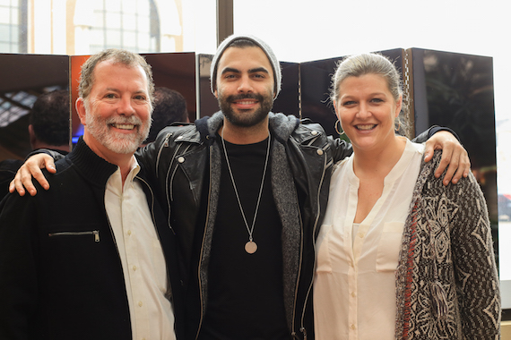 Pictured (L-R):  SESAC's Dennis Lord, Moon and SESAC's Shannan Hatch. Photo: Bev Moser/Moments By Moser