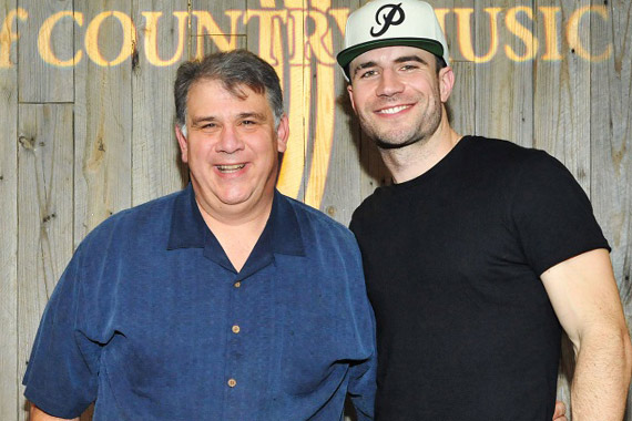 Pictured (L-R): Bob Romeo (ACM, CEO) with Sam Hunt. Photo: Michel Bourquard/Courtesy of the ACM.