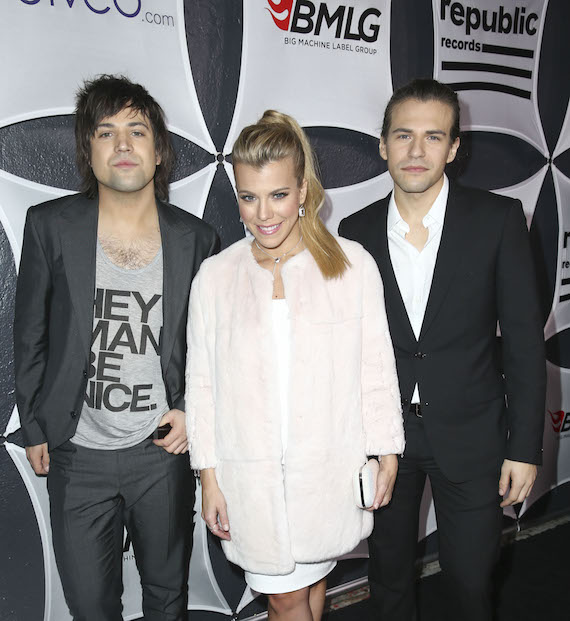 Pictured (L-R): Neil Perry, Kimberly Perry and Reid Perry. Photo: Photo by Imeh Akpanudosen/Getty Images