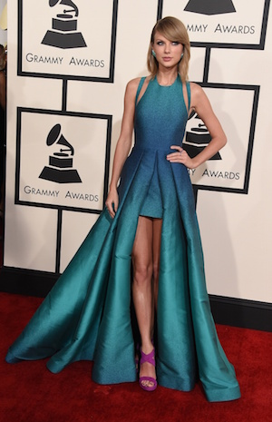 Taylor Swift on the Grammys red carpet. Photo: Grammy.com