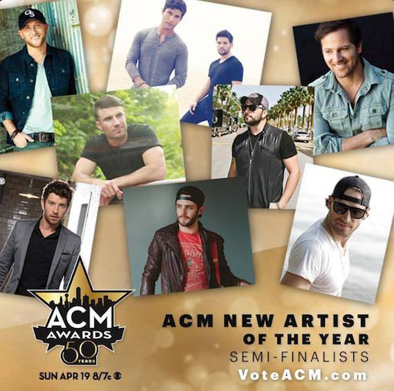 Reminder first round fan voting for acm new artist of the for Academy of country music award for video of the year