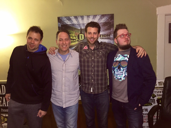 DMP President Jon D'Agostino, DMP current DMP writers Adam Searan and Jason Eustice, welcome Michael August for to the songwriting team.