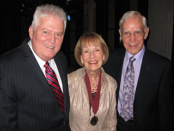 Pictured (L-R): David McCormick, Jo Walker-Meador and Bob Meador at the Country Music Hall of Fame Medallion Ceremony. Photo: David McCormick