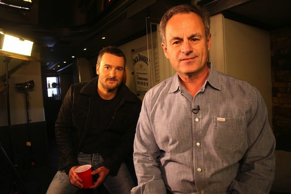 Eric Church with CBS' Mark Strassmann Courtesy: Jill Trunnel