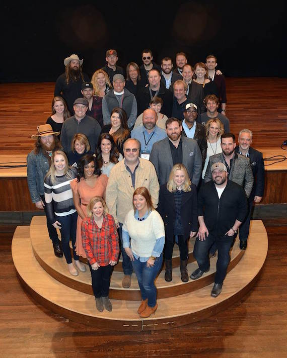 UMG Nashville artists and executives on the Ryman stage during CRS.