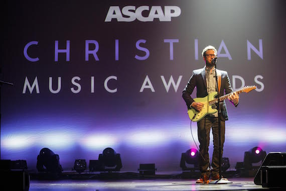 Chris August opens the ASCAP Christian Music Awards.