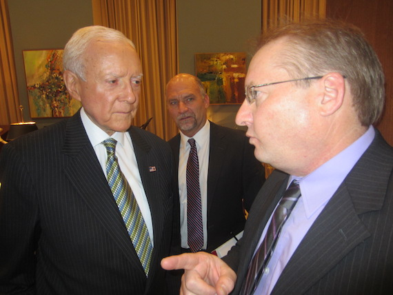 NSAI Legislative Co-Chair, songwriter Roger Brown and Senator Orrin Hatch (UT).