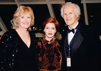 Don and Irene Robertson with Priscilla Presley  at the Rock and Roll Hall of Fame, 1996. Photo: donrobertson.com