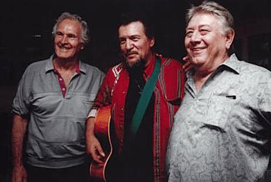 Don Robertson with Waylon Jennings and Jack Clement