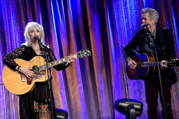 EmmyLou Harris and Rodney Crowell perform at the T.J. Martell Foundation's 7th Annual Nashville Honors Gala.