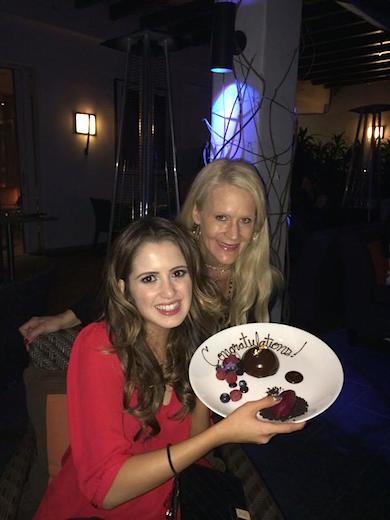 Laura Marano with BMLG's Allison Jones. Photo courtesy of Laura Marano.