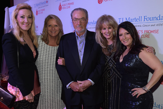 Ree Guyer Buchanan, T.J. Martell Foundation's Tinti Moffat, Jimmy Bowen, T.J. Martell Foundation's Laura Heatherly, and Danielle Bouharoun attend the T.J. Martell Foundation's 7th Annual Nashville Honors Gala