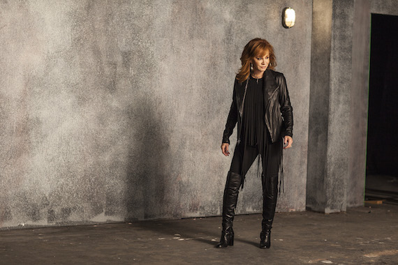 "Reba on the set of ""Going Out Like That."" Photo: Nash Icon Records"