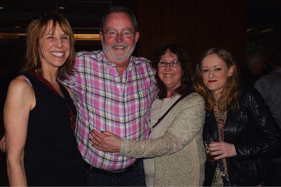 Pictured (L-R): Erika Wollam Nichols, NSAI; Steve Bogard; Beverly Bogard; Karen Turley, NSAI Liverpool exchange writer.