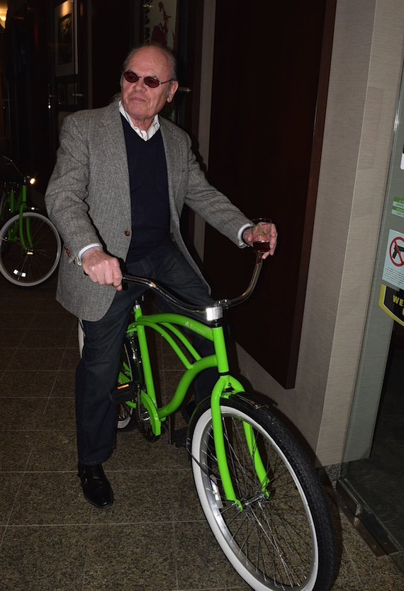 Pictured (L-R): Tin Pan South sponsor Peter Nesbitt of Matchless Transportation on a Regions cruiser bike