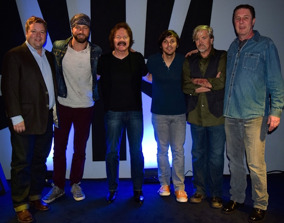 Pictured (L-R): BMI Sr. Director Bradley Collins, Casey James, Tom Johnston, Charlie Worsham, John Cowan and NSAI Executive Director Bart Herbison