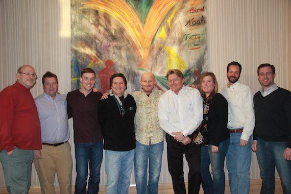 Pictured (L-R): Robin Gordon (Gordon Law Group), Bradley Collins (BMI), Lee Krabel (HoriPro), Butch Baker (HoriPro), Wes Hightower, David Preston (BMI), Courtney Crist (HoriPro), Tim Stehli (BMI), Chris Skinner (Gordon Law Group)