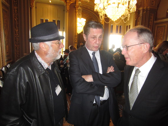 Songwriter Roger Cook, NSAI Executive Director Bart Herbison and Tennessee Senator Lamar Alexander.
