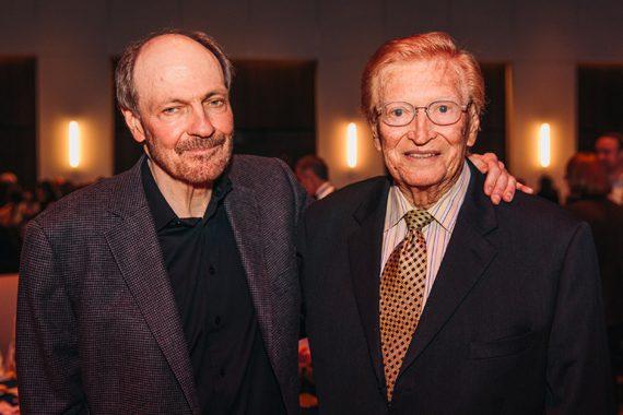 Bobby Braddock (L) with Harold Bradley (R). Photo: CK Photo