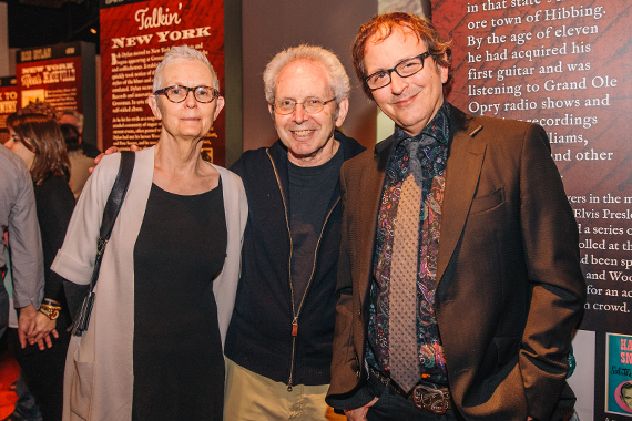 Pictured (L-R): Alexandra Guralnick, historian and author Peter Guralnick, and the CMHoF Mick Buck. Photo: CK Photo