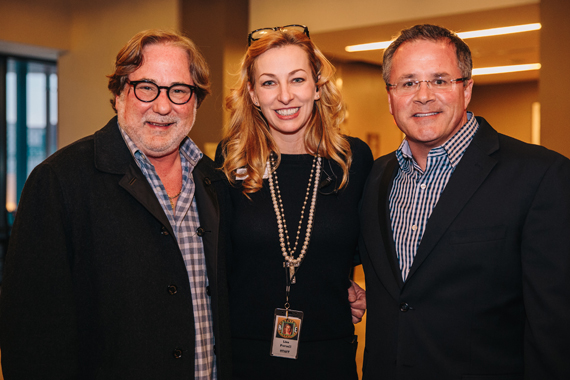 Pictured (L-R): CAA's Rod Essig, CMHoF's Lisa Purcell, and the Grand Ole Opry's Pete Fisher. Photo: CK Photo