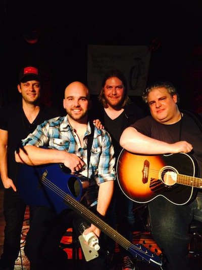 (l. to r.): Aaron Eshuis, Johnny Bulford, Chris Gelbuda and Jason Matthews at BB King's Blues Club early show. Credit: Preshias Harris