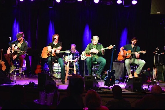 l. to r.): Casey James; Doobie Brothers Tom Johnston and John Cowan; Charlie Worsham at 3rd & Lindsley late show.